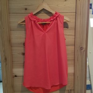 Mixed material tank blouse from The Limited